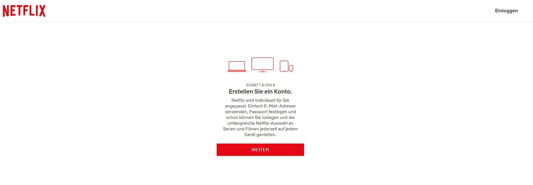 Netflix Konto erstellen
